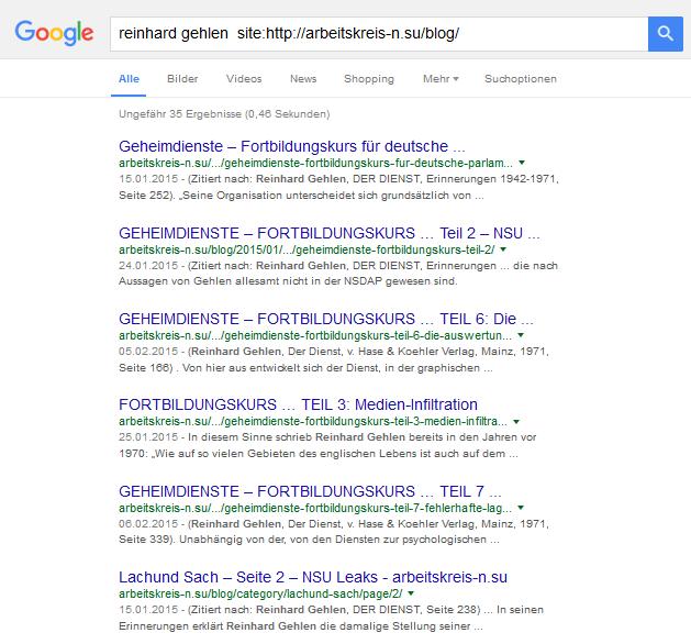 google gehlen leaks