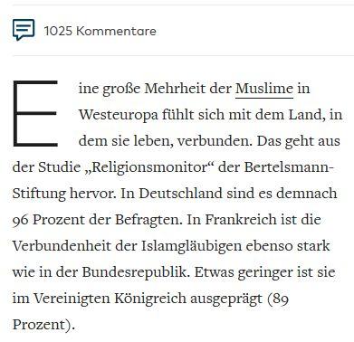 prozent moslems deutschland